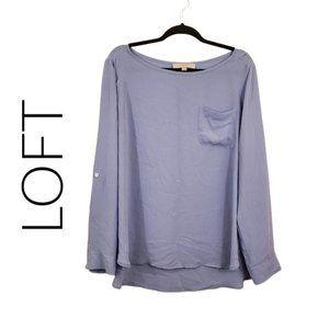 Ann Taylor LOFT powder blue blouse XL